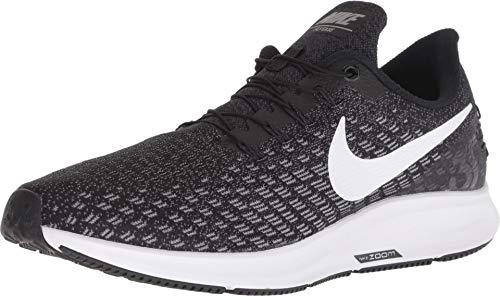 Nike Men's Zoom Pegasus 35 Flyease Running Shoe (9.5, Black/White-Gunsmoke-Oil Grey) (Nike Air Zoom Pegasus 33 Mens Black)