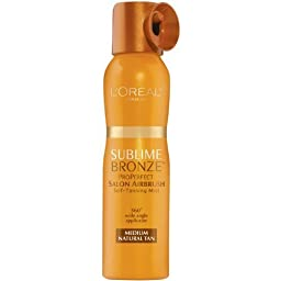 L\'oreal Paris Sublime Bronze Properfect Salon Airbrush Self-tanning Mist, Medium Natural Tan, 4.6 Ounce (Pack of 3)