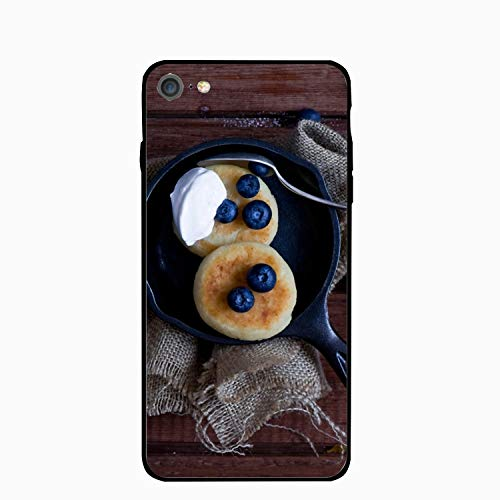 (Personalized Pancakes Fruit Bowl Blueberries Sour Cream iPhone 7 Case [4.7 inch])