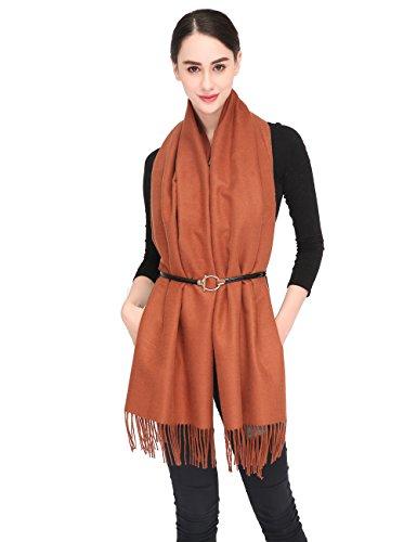 Women Soft Pashmina Scarf Stylish Warm Blanket Scarves Solid Winter Shawl by Arctic Penguin (Image #3)