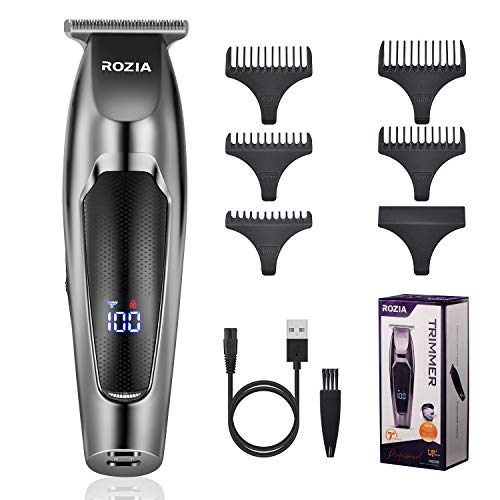Roziaplus Beard Trimmer Professional Hair Clippers Hybrid Beard Grooming Kit for Men Portable Home Hair Trimmer Kit for Men Hair cut Rechargeable Electric Manscaping Trimmer