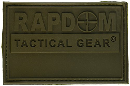 (RAPDOM Rubber Patch, Olive, 3 x 2-Inch)