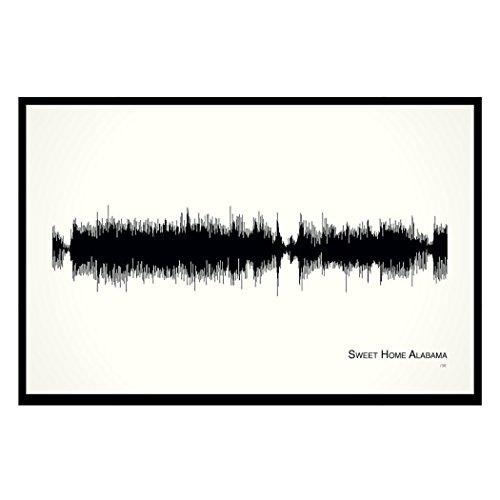 (Sweet Home Alabama - 11x17 Framed Soundwave print)