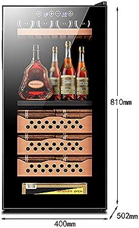VIY Nevera para vinos con Puerta acristalada 16 Botellas de Vino 78 L 10-18°C/12-18°C Solo 39 dB Iluminación Interior Control táctil Marco de Acero
