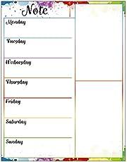 HaoNiu Soft Magnetic Whiteboard månad/veckoplanering självdisciplin mjuk whiteboard meddelandeplan för hemmakontor kylskåp 2#