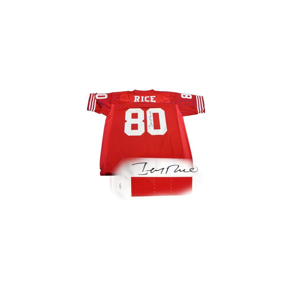 Jerry Rice Signed Jersey   Franco 49ers Red W Jsa