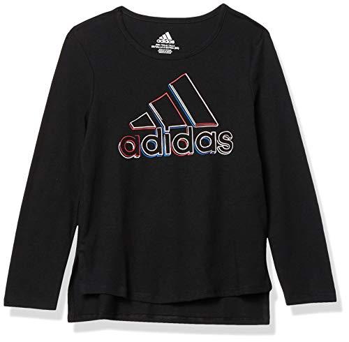 adidas Girls' Long Sleeve Scoop Neck Tee T-Shirt