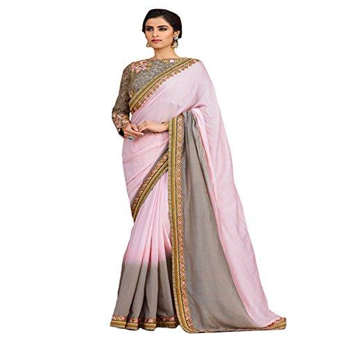 indischen Diwali Hochzeit Georgette-Party Wear Damen Sari Frauengewand Designer Arbeit Original Ethnic Traditionelle Sexy 8102