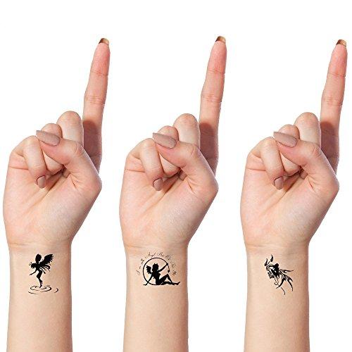 Tatouages Ephemeres Bling Art Planche Anges Demons Noir De 10