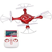 RCtown Syma X5UW Wifi FPV 720P HD Camera Quadcopter Drone with Flight Plan Route App Control and Altitude Hold Function Red