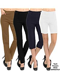 New Women's Straight Fit Trouser Pants | 4 Styles...