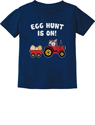 Easter Egg Hunt Gift For Tractor Loving Kids Toddler/Infant Kids T-Shirt 2T Navy (Easter Clothes For Kids)