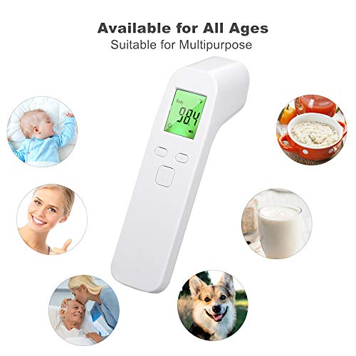 No Touch Thermometer for Adults Baby and Kids Koogeek Infrared Forehead ThermometerTouchless Digital Thermometer Medical Gun with Fever Alarm LED Display Screen 1Second Accurate Instant Reading