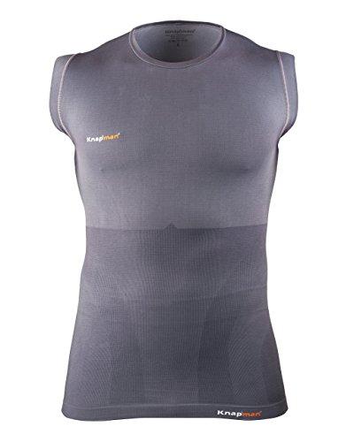 Knap'man Sleeveless compression shirt grey