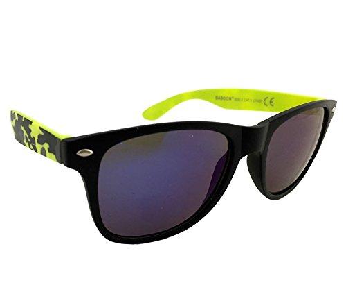 Dasoon vision Gafas de Sol con Patillas Amarillas Militares ...