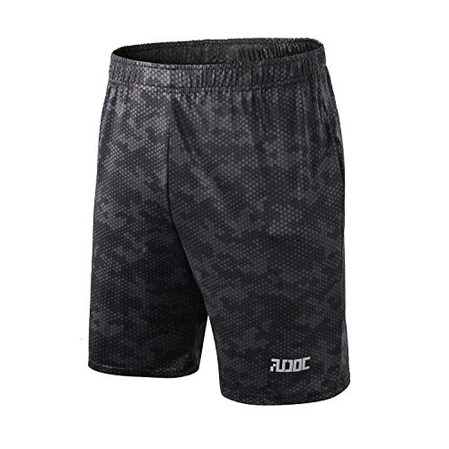 Spandex Camouflage Shorts (Audoc Mens Cool Dry Loose Fit Camouflage Shorts Athletic Fitness Shorts)