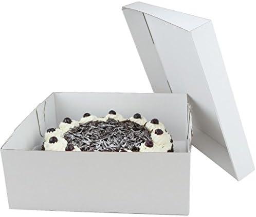 50 Tortenkartons 32x32x12cm weiß SEHR STABIL Tortenschachteln Tortenschachtel