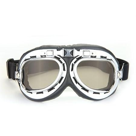 Gafas Lente Lens Tipo Aviador contra Viento para Moto Harley Vintage: Amazon.es: Coche y moto