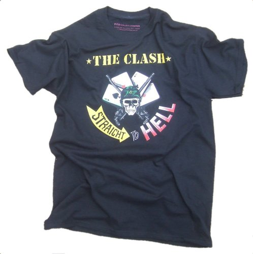 Fifth Column Classics Men's The Clash - Straight To Hell T-Shirt Black Large