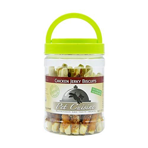 Pet Cuisine Premium Dog Treats Puppy Chews Snacks, Chicken Jerky Biscuits, 12oz