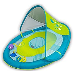 SwimWays Baby Spring Float Sun Canopy Includes 5 Tethered Toys And Reusable Carry Bag