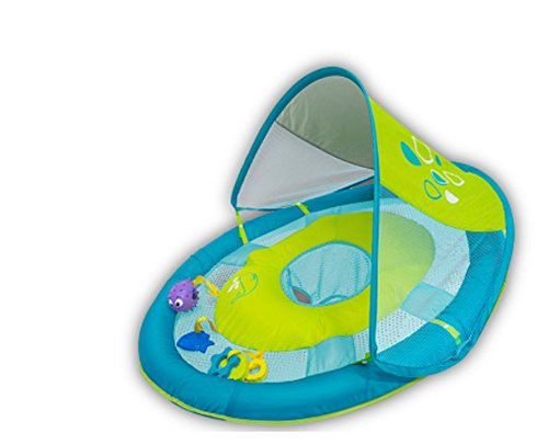 SwimWays Baby Spring Float Sun Canopy Includes 5 Tethered Toys And Reusable Carry -