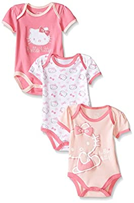 Hello Kitty Baby Girls' Multi Pack Bodysuits by Weeplay Character Children's Apparel that we recomend personally.