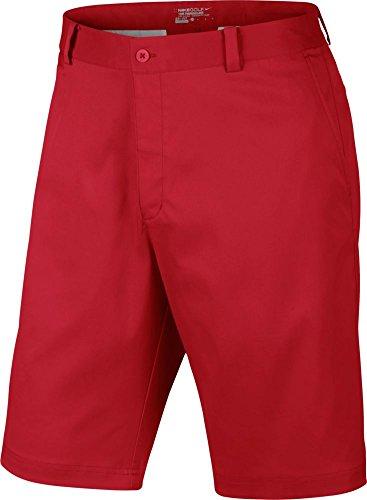 Nike Dri-Fit Flat Front Tech Shorts - University Red/University Red - Size (Nike Dress Shorts)