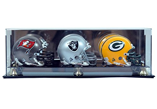 Polynex Inc Generic League General Football Helmet Mini Triple Wall Mountable, Clear, One -