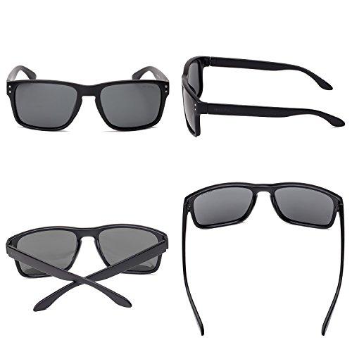 TOMS Manu Noir Mat Polarisées Sunglasses with Dark Grey Polarized Lens CotAY