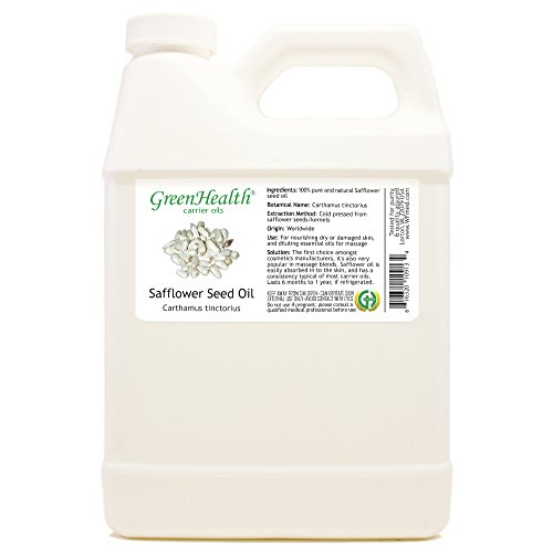 GreenHealth Safflower Seed Oil - 32 fl oz (946 ml) - 100% Pure Carrier Oil