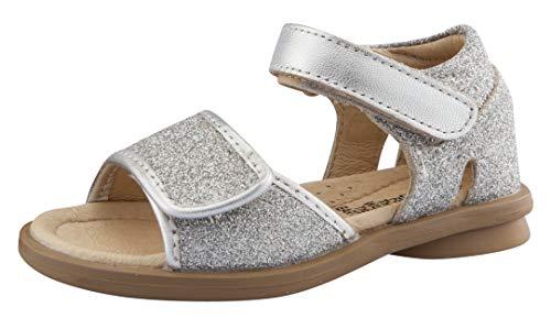 (Old Soles Girl's Salsa Leather Sandals, (Glam Argent, 29 M EU/12 M US Little Kid))