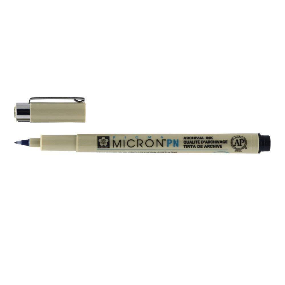 8 pcs.005,01,02,03,05,08,Brush Sakura Black Pen in blister di carta penna ad inchiostro Pigma Micron