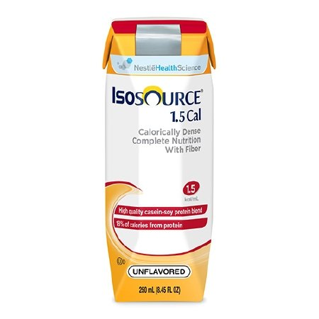 Isosource 1.5 Cal with Fiber Unflavored 250ml Brikpaks 24/Case **4 CASE SPECIAL** by Nestle
