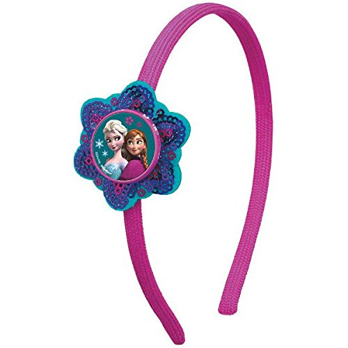 Group 5 Halloween Costumes (Disney Frozen Teal and Purple Headband Wearable Birthday Party Favour Head Accessory (1 Piece), Multi Color, 5