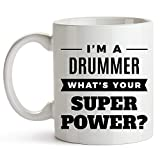 Buy Drum Coffee Table I'm A Drummer. What's Your Super Power? - Drummer Gift Coffee Mug - Percussion Drum Player Gift 11 oz Coffee Mug - Drum Love Drumming Drummer Percussionist - Drummer Gift for Valentines Day