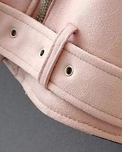 Casual Outerwear Hot Transizione Rosa Di Colore Antivento Puro Giubbino Vintage Giubotto Giacche Manica Donna Zip Semplice Eleganti Lunga Moda Bavero Glamorous Invernali gq8nPRZfwB
