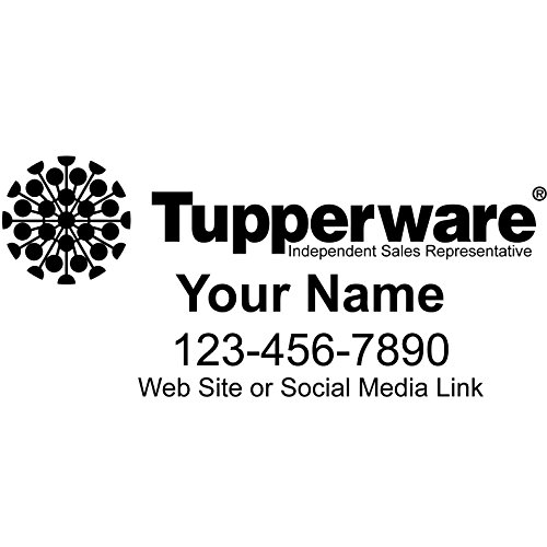 Basic Vinyl® - Tupperware® Independent Consultant Business Retail Decal - Personalized Custom Advertising for Your Company Vehicle Car Truck (48x22 inch, Gloss Black)