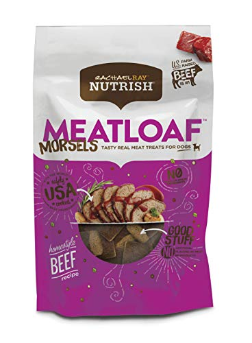 - Rachael Ray Nutrish Meatloaf Morsels Dog Treats, Homestyle Beef Recipe, 12 Oz.