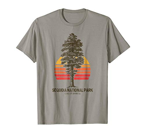 Sequoia National Park Retro Tree T-Shirt