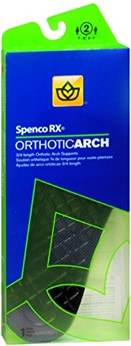 Spenco RX 3/4 Length Orthotic Arch Supports Size 2 1 Pair (Pack of 2)