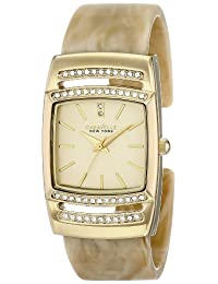 CARAVELLE NEW YORK Women's 44L142 Horn Plastic Bangle Watch
