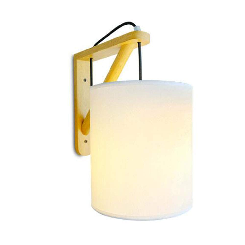 Lampade da parete legno,Illuminazione per interni Applique da parete panno paralume Home Office Mall decor Creative Applique,Rondella da parete applique,faretto,faretto a parete WXAN Lighting