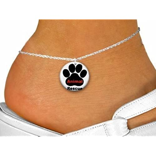 """ Animal Rescue"" With Paw Disk Charm & Anklet"