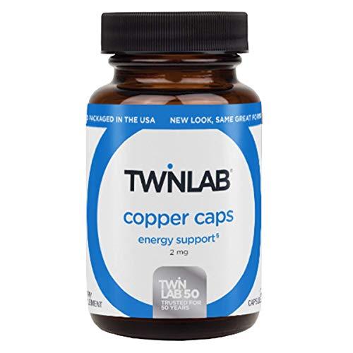 Twinlab Copper Caps - 2 mg - 100 Capsules (Copper Caps Twin Labs)