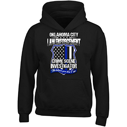 Cool Funky Tees Oklahoma City Crime Scene Investigator Law Enforcement Gift - Adult Hoodie ()