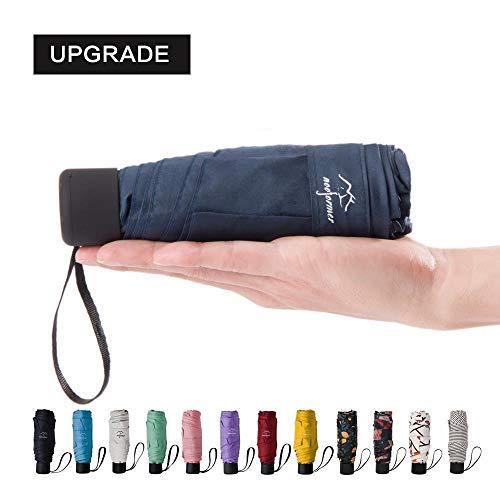 Mini Compact Umbrella - NOOFORMER Mini Travel Sun&rain Umbrella - Light Compact Golf Umbrellas Parasol with 95% UV Protection for Men Women Multiple Colors