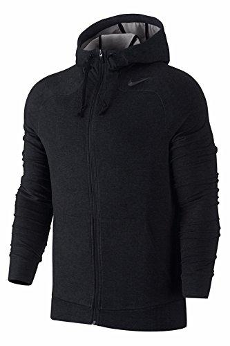 Nike Mens Dri Fit Touch Training Full Zip Hoodie Black Medium