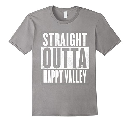 Mens Happy Valley T-Shirt - STRAIGHT OUTTA HAPPY VALLEY Shirt Large - Valley Shops Happy