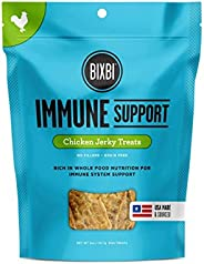 BIXBI Dog Jerky Treats - All-Natural Glucosomine, Antioxidants, Whole Food Nutrition - Skin, Immune and Joint